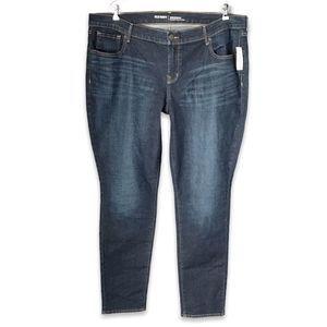 Old Navy dark wash straight leg mid-rise jeans